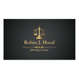 Elegant Faux Gold Libra Professional Lawyer Business Card