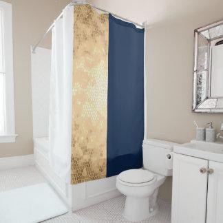 elegant faux gold, navy blue, white stripes