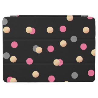 elegant faux gold pink grey confetti dots pattern iPad air cover
