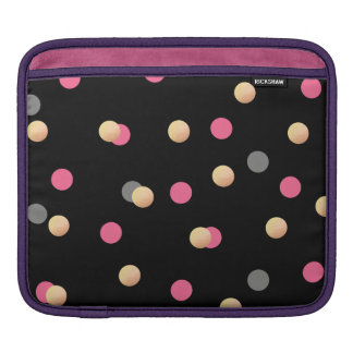 elegant faux gold pink grey confetti dots pattern iPad sleeve