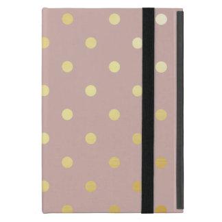 elegant faux gold pink polka dots case for iPad mini