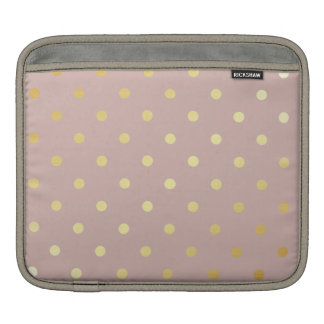 elegant faux gold pink polka dots iPad sleeve