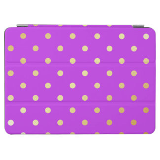 elegant faux gold purple polka dots iPad air cover