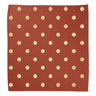 elegant faux gold red polka dots bandana