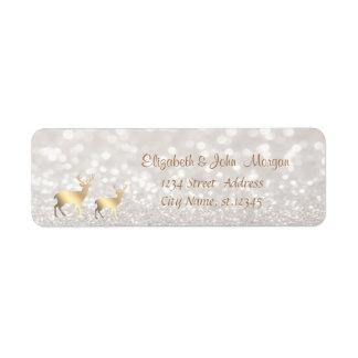 Elegant,Faux Gold Reindeer,Glittery Bokeh