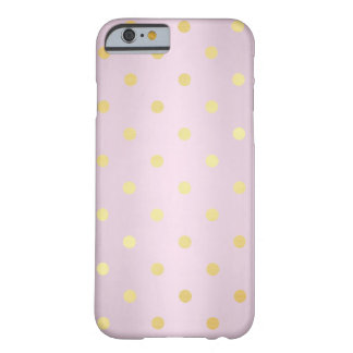 elegant faux gold rose gold polka dots barely there iPhone 6 case
