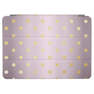 elegant faux gold rose gold polka dots iPad air cover
