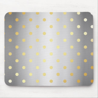 elegant faux gold silver polka dots mouse pad
