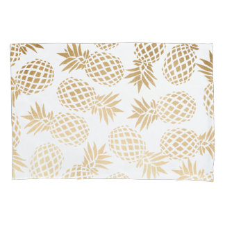 elegant faux gold tropical pineapple pattern pillowcase