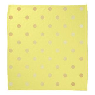 elegant faux gold yellow polka dots bandana