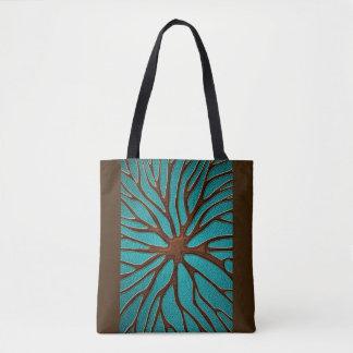 Elegant Faux  Leather  Oriental Root design Tote Bag