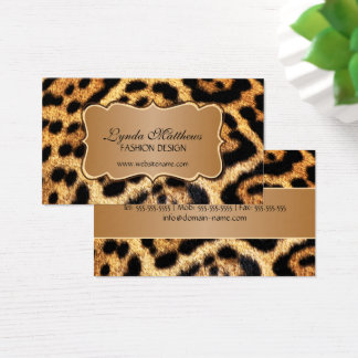 Elegant Faux Leopard Fur Business Card