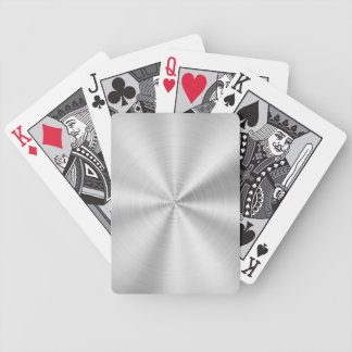Elegant Faux Metallic Shiny Silver Bicycle Playing Cards