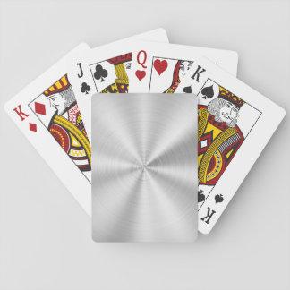 Elegant Faux Metallic Shiny Silver Playing Cards