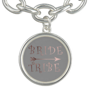 elegant faux rose gold bride tribe design bracelets