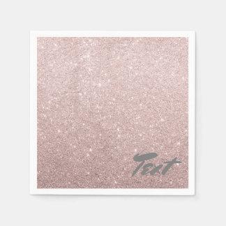 elegant faux rose gold glitter paper napkins