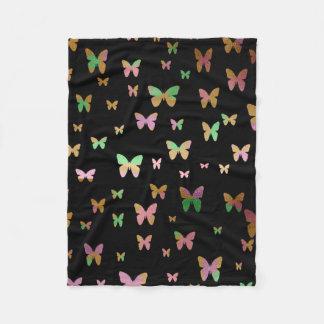 elegant faux rose gold gold butterfly pattern fleece blanket