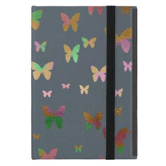 elegant faux rose gold gold butterfly pattern iPad mini case