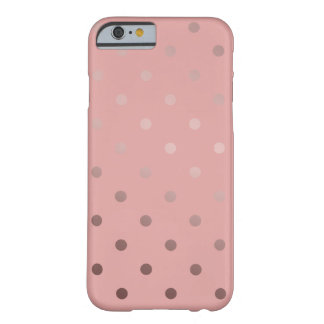 elegant faux rose gold pink polka dots barely there iPhone 6 case