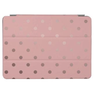 elegant faux rose gold pink polka dots iPad air cover