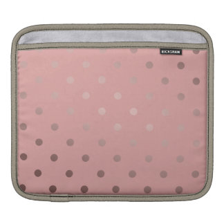 elegant faux rose gold pink polka dots iPad sleeve
