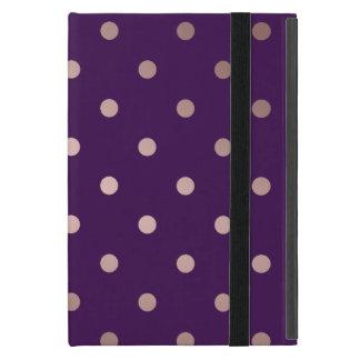 elegant faux rose gold purple polka dots case for iPad mini