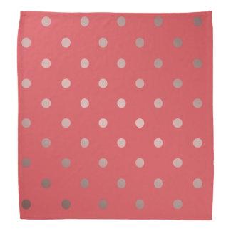 elegant faux rose gold red polka dots bandana