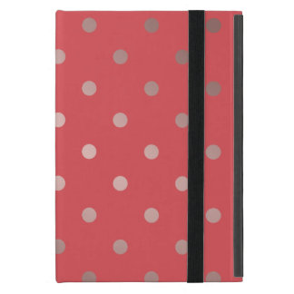 elegant faux rose gold red polka dots iPad mini cover