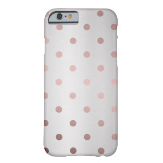 elegant faux rose gold silver polka dots barely there iPhone 6 case