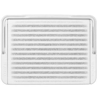 Elegant Faux Silver Glitter Stripe Pattern