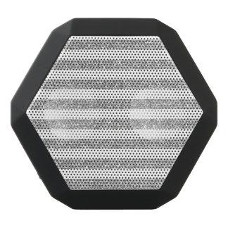 Elegant Faux Silver Glitter Stripe Pattern Black Bluetooth Speaker