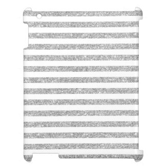 Elegant Faux Silver Glitter Stripe Pattern Case For The iPad 2 3 4