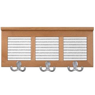 Elegant Faux Silver Glitter Stripe Pattern Coat Racks