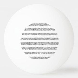 Elegant Faux Silver Glitter Stripe Pattern Ping Pong Ball
