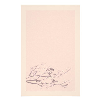 Elegant Felt Cherry Blossom Stationery