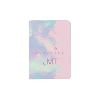 elegant & feminine lilac watercolor passport holder