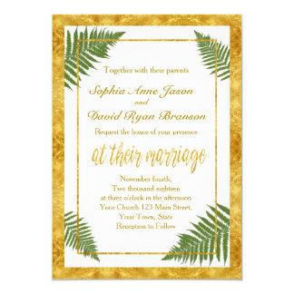 Ferns invitations announcements zazzle canada for Gold foil wedding invitations canada