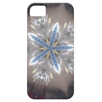 Elegant Festive Christmas Star Shiny Blue White Case For The iPhone 5