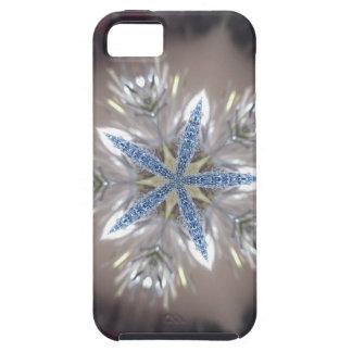Elegant Festive Christmas Star Shiny Blue White iPhone 5 Case