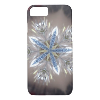 Elegant Festive Christmas Star Shiny Blue White iPhone 7 Case