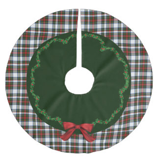 Elegant Festive Stewart Dress Plaid Tree Skirt