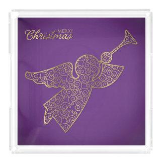 Elegant filigree angel acrylic tray