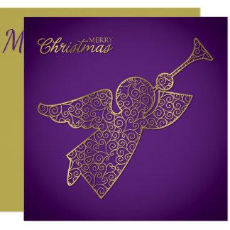 Elegant filigree angel card
