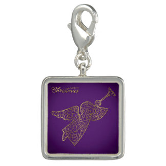 Elegant filigree angel photo charm