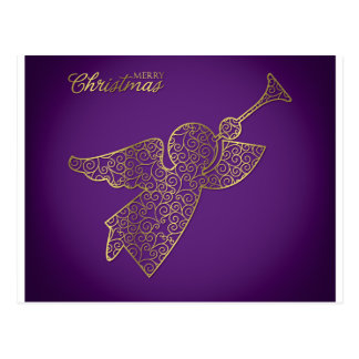 Elegant filigree angel postcard