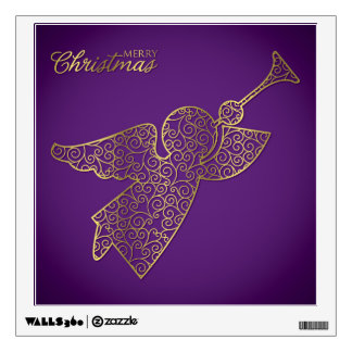 Elegant filigree angel wall decal