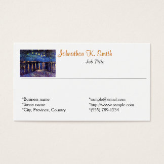 Elegant fine art personal business cards