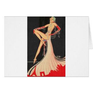 Elegant Flapper Card