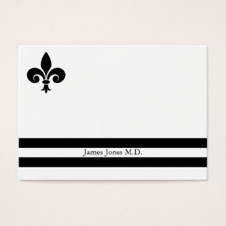 Elegant Fleur de Lis Professional Business Card