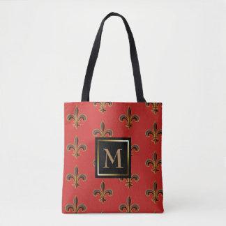 Elegant Fleur-de-lis Tote Bag